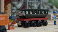 Hector grins