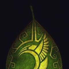 the golden tribal hummingbird crest