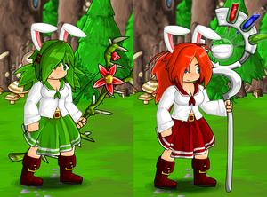 School Uniform and Slime Bunny Ears