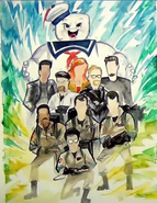 Ghostbusters vs Mythbusters Drawing
