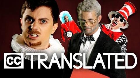 TRANSLATED Dr. Seuss vs William Shakespeare. Epic Rap Battles of History