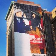 Blackbeard vs Al Capone Ad on a Building