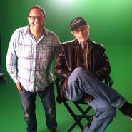 Mike Betette with Steven Spielberg