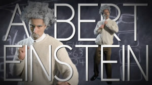 Albert Einstein Title Card