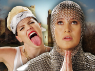Miley Cyrus vs Joan of Arc Thumbnail