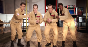 The Ghostbusters In Battle