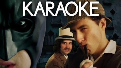 KARAOKE ♫ Batman vs Sherlock Holmes. Epic Rap Battles of History
