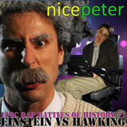 Einstein vs Stephen Hawking Alternative Cover