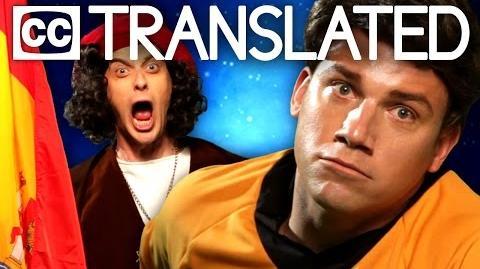 TRANSLATED Captain Kirk vs Christopher Columbus. Epic Rap Battles of History