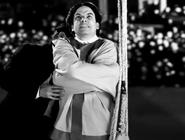 Harry Houdini in a Straitjacket