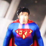 Superman Using Heat Vision