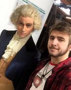 Javi Sánchez-Blanco with Thomas Jefferson