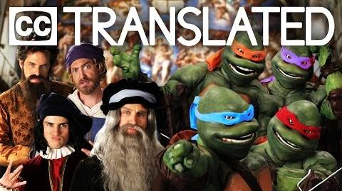 TRANSLATED Artists vs TMNT. Epic Rap Battles of History