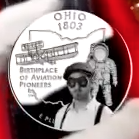 Wilbur Wright on a quarter