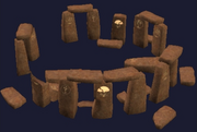 A sandstone druid ring (Visible)