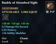 Bauble of Absorbed Sight