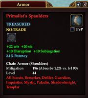 Primalist's Spaulders