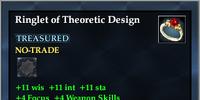 Ringlet of Theoretic Design
