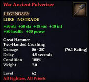 War Ancient Pulverizer