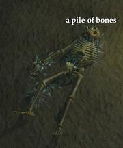 A pile of bones