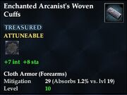 Enchanted Arcanist's Woven Cuffs