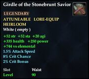 Girdle of the Stonebrunt Savior