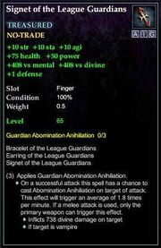 Signet of the League Guardians