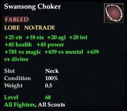 Swansong Choker