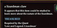 A lizardman claw