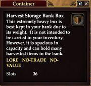 Harvest Storage Bank Box