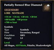 Partially Formed Blue Diamond