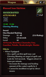 Blessed Iron Falchion