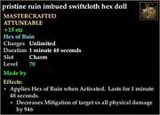 Ruin imbued swiftcloth hex doll