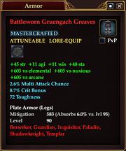 Battleworn Gruengach Greaves