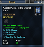 Greater Cloak of the Dismal Rage
