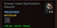 Swamp Coated Spiritualist's Manacle