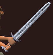Glyphed Crusader's Blade (Equipped)