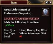 Astral Adornment of Endurance (Superior)