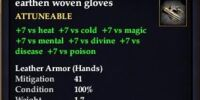 Earthen woven gloves