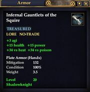 Infernal Gauntlets of the Squire