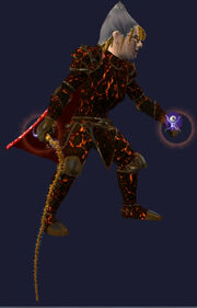 Spiked Whip of Valor Equipped