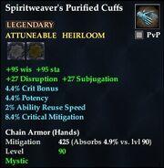 Spiritweaver's Purified Cuffs