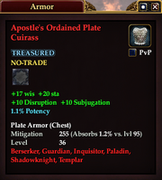 Apostle's Ordained Plate Cuirass