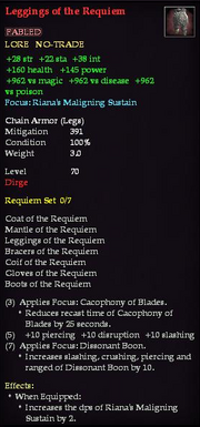 Leggings of the Requiem