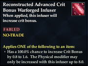 Reconstructed Advanced Crit Bonus Warforged Infuser