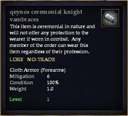 Qeynos ceremonial knight vambraces
