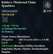 Raider's Thickened Chain Spaulders