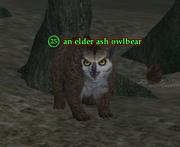 An elder ash owlbear