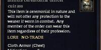 Militia ceremonial officer cuirass