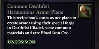 Common Deathfist Harmonious Armor Plans